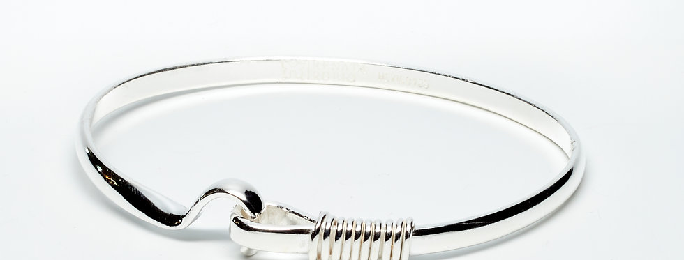Bangle with Hook Clasp