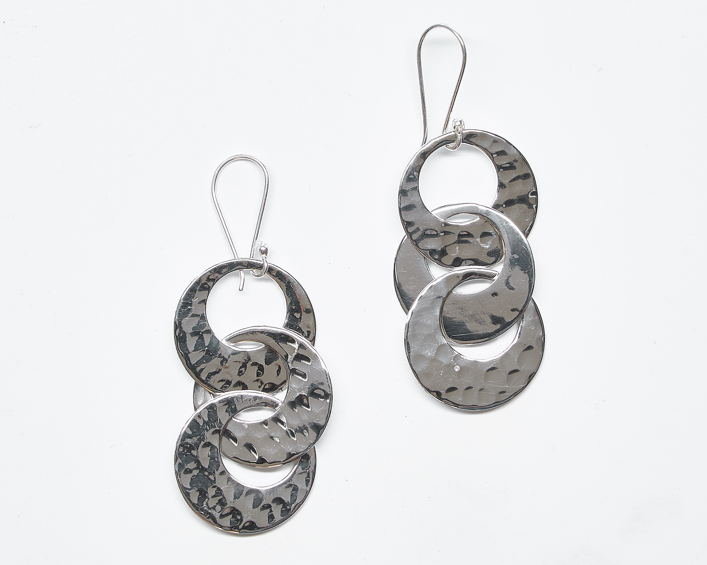 Pounded Circle Earrings