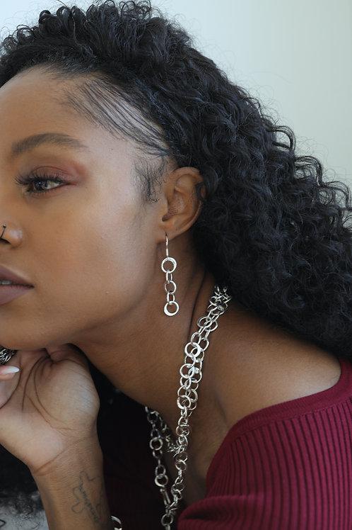 Flat Circle Earrings