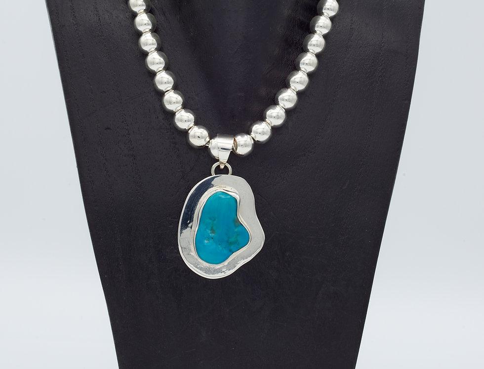 Lipped Sleeping Beauty Turquoise Pendant