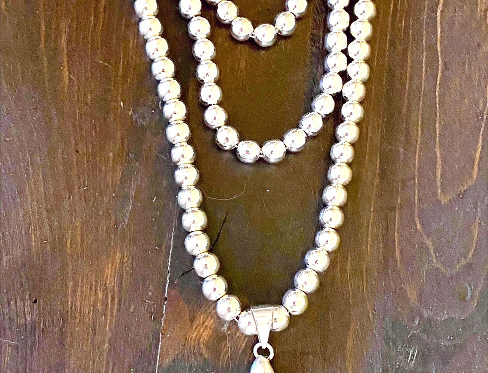 High Shine 8MM Beaded Necklace