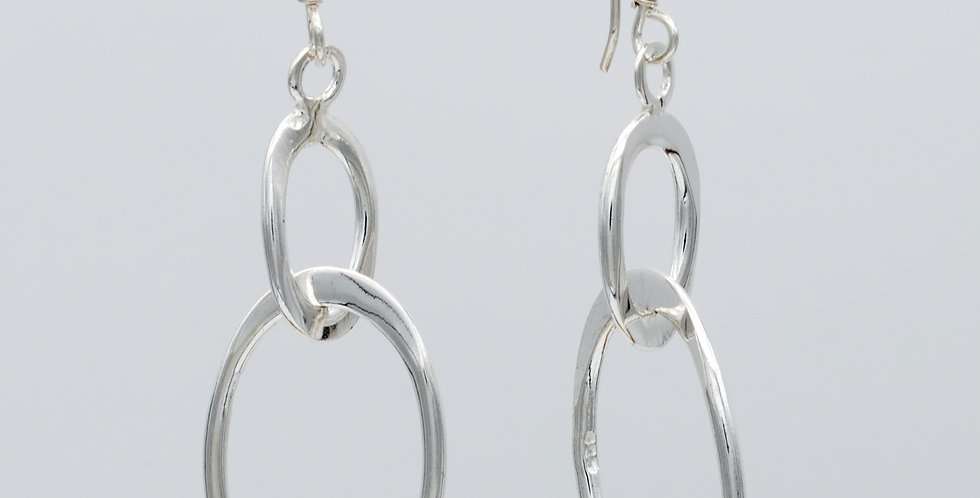 Flat Large and Small Oval Earrings