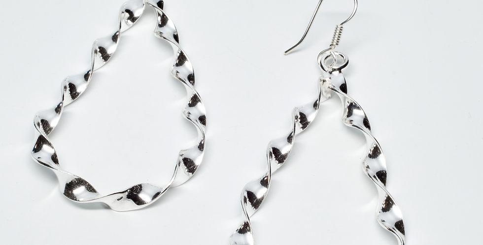 Twisted Teardrop Dangle Earrings