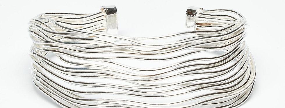 Wavy Sterling Silver Cuff
