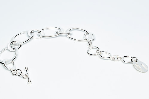 Small/Large Oval Chain Link Bracelet