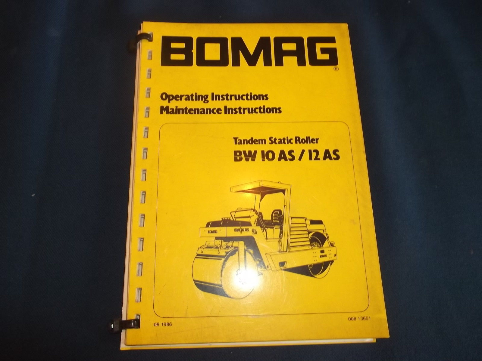 Repair manual Bomag Asphalt Manager Tandem Roller is a catalog of dealer  documentation, which contains manuals on repair and maintenance,  description of ...