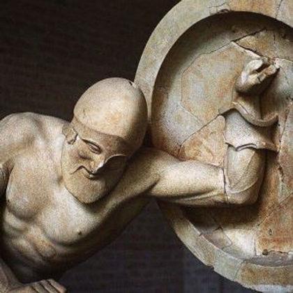 Πληγωμένος πολεμιστής από τον ναό της Αφαίας στην Αίγινα, Γλυπτοθήκη Μονάχου