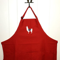 Red Llama Apron