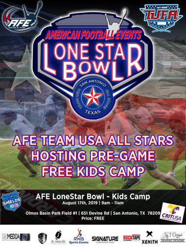 [Team USA] Lone Star Bowl - Kids Camp Flyer