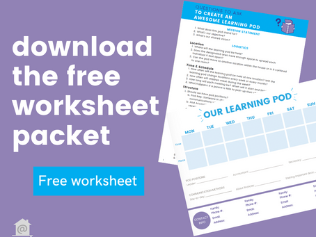 How To Get A Learning Pod Started Worksheet Template