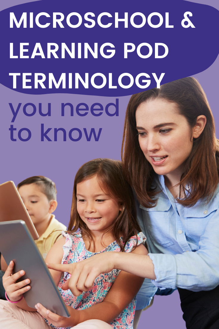 common microschool and learning pod terminology