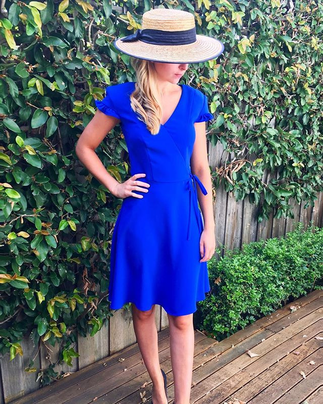 ❤️ this #dress from _cueclothingco worn by _graceramage for _racingdotcom coverage at yesterday's _flemingtonvrc styled by _stylerightco #cu