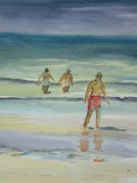 By the Sea 16.50w x 13.75 Watercolor