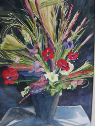 Flower Show 21h x 19.75 Watercolor