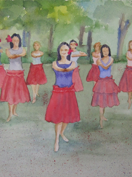 Helloha 26.50w x 16h Watercolor
