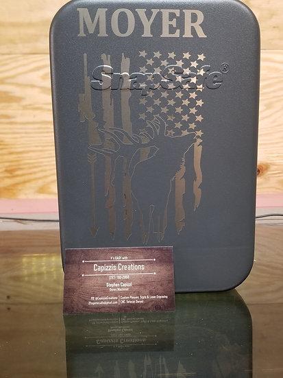 Custom lasered gun pistol box