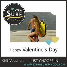 Surf Voucher Valentine`s Day