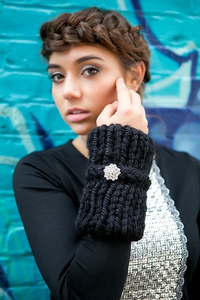 Starry Night Knit Cuff Warmers