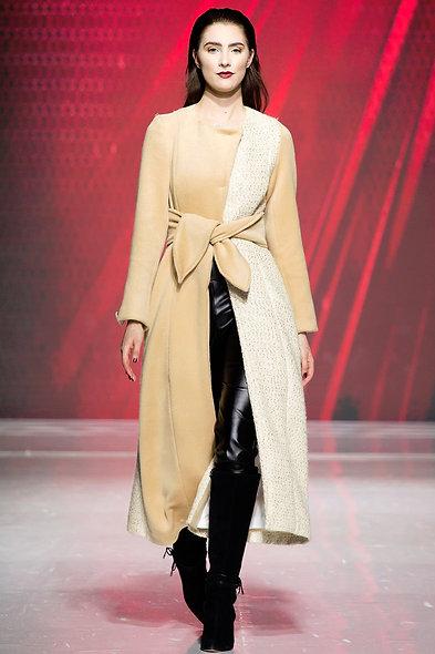 Asymmetrical Tweed Coat