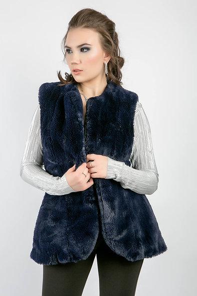 Night Fall Vegan Fur Vest