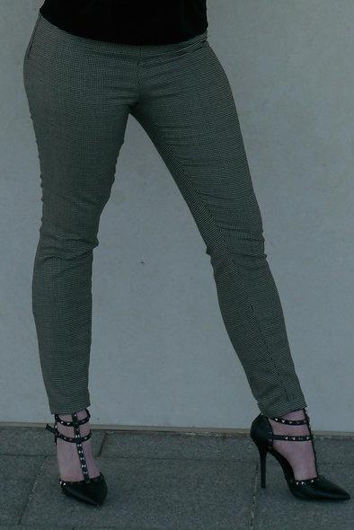 Herringbone Fitted Lady Pant Petite