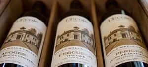 L'Ecole 41 wine bottles
