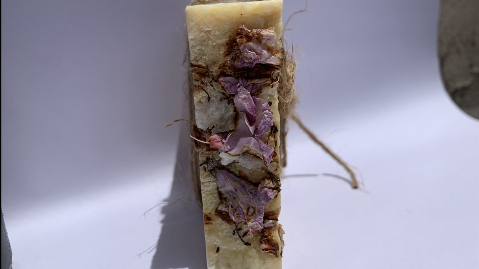 Vintage Love soap with dried flowers