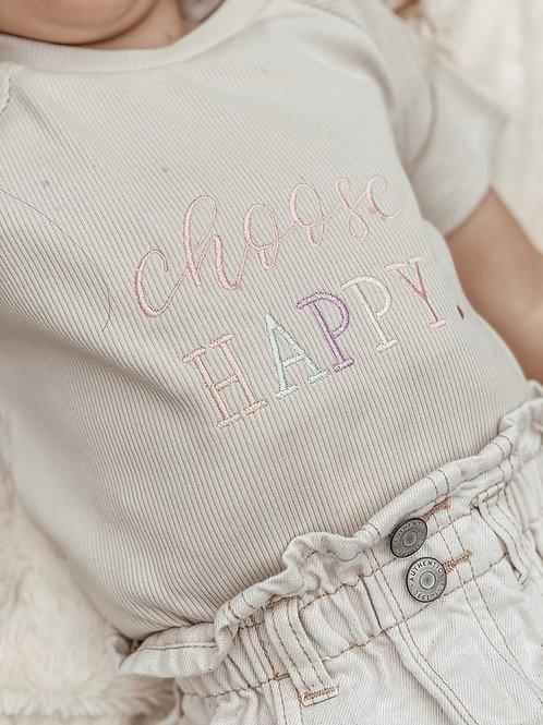 'Choose Happy' Top