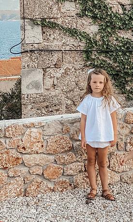 Little girls handmade blouse