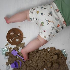 Childrens organic handmade bummies