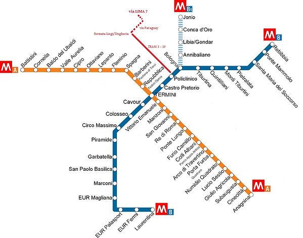 Mappa Metro Roma - Antonello Carrino Operazioni Immobiliari