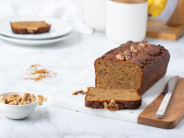 COCONUT WALNUT BANANA LOAF CAKE (GLUTEN-FREE)