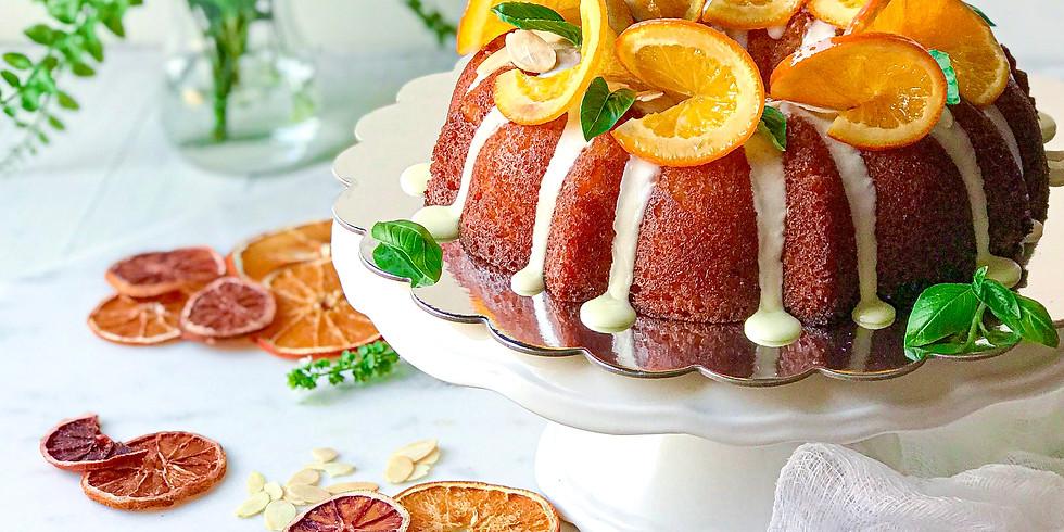 ORANGE POLENTA CAKE - ONLINE COOKING CLASS
