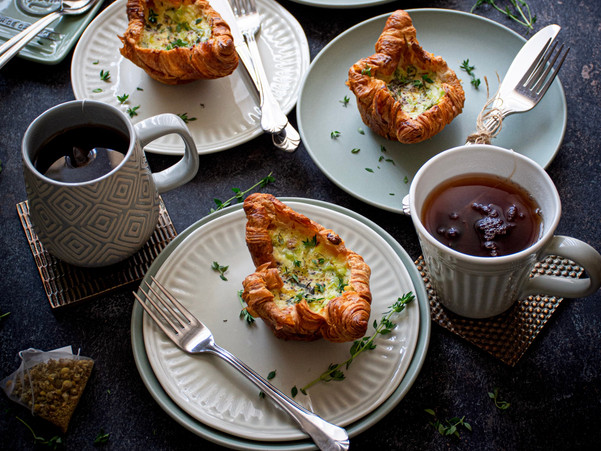 THYME AND LEEK CROISSANT BOATS