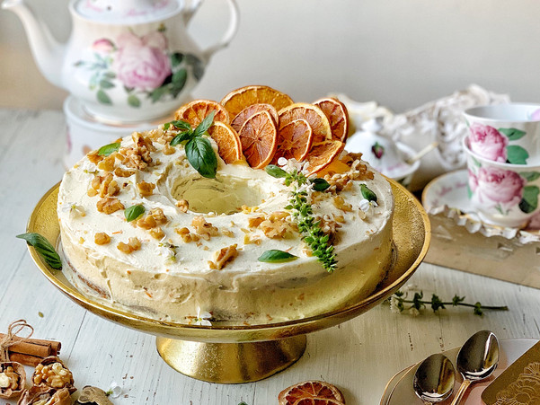 SPICED CARROT AND ORANGE CAKE
