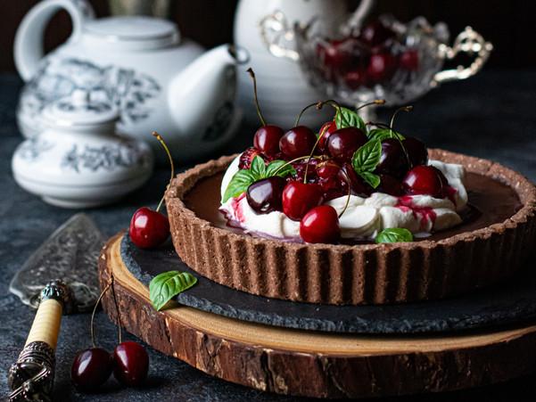 BLACK FOREST GLUTEN-FREE CHOCOLATE TART