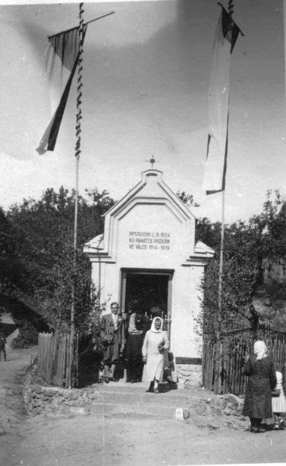 Otevření kaple v roce 1934