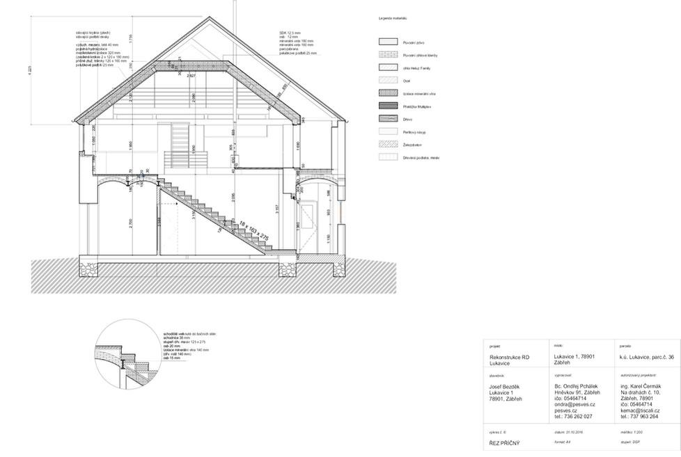 Dokumentace stavby - řez příčný