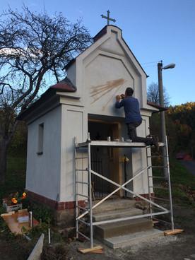 Rekonstrukce kaple v Hněvkově