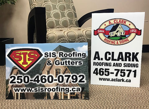 Colour Lawn Signs