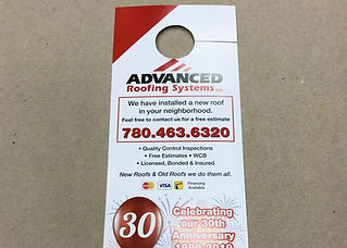 Advance Roofing Door Hanger