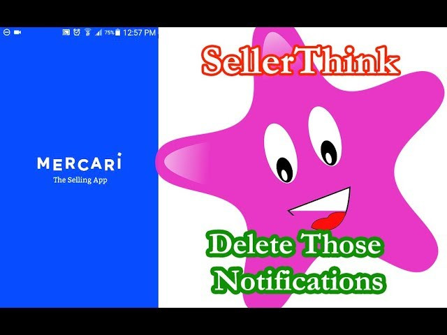 How to delete old Mercari app Notificati