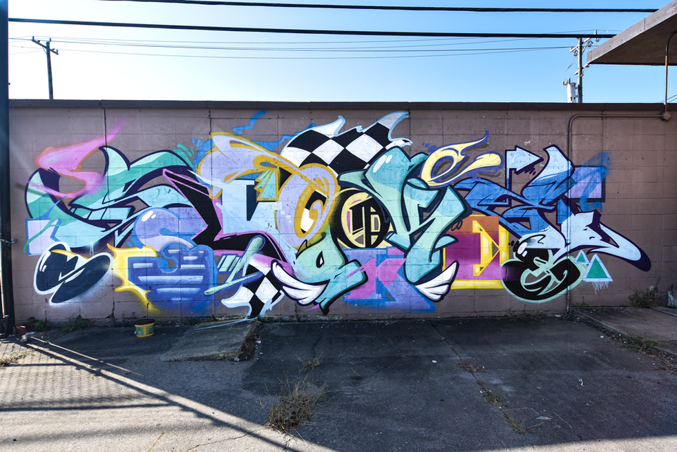 I wanted to have fun with this one, having a mashup of fonts and graffiti letters. Bold and colorful. Thank you Greensboro for hosting us.   special thanks to: ryan saunders and jen graf