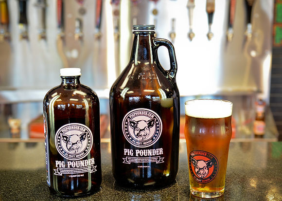 Beer by the glass or bottle for take home