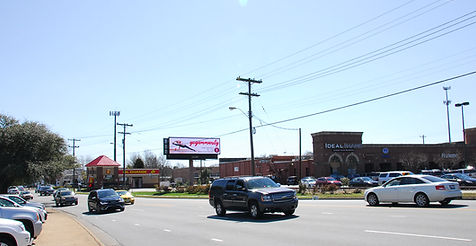 Southbound view of our billboard