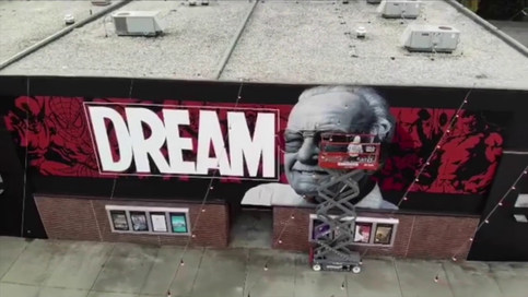 Stan Lee Mural Time Lapse Video by JEKS