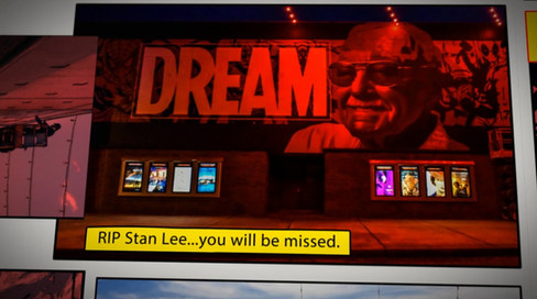 Jeks Stan Lee tribute mural at Red Cinemas