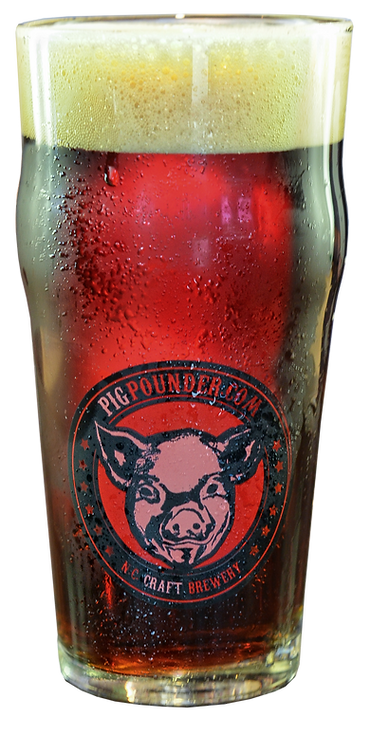 Glass of Pig Pounder Beer