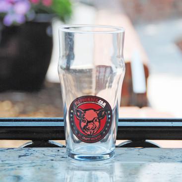 Pig Pounder Pint Glass