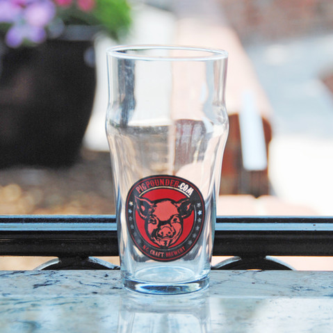 Pig Pounder Pint Glass